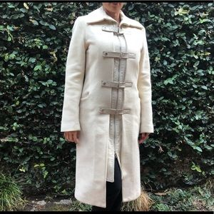 Cream colored wool coat!